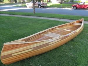 Strip canoe